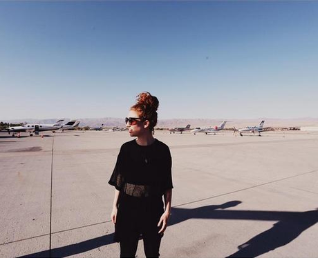 Jess Glynne at the airport