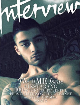 Interview Magazine Cover with Zayn Malik