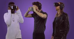Tinie Tempah, Nathan Sykes and David Guetta with V