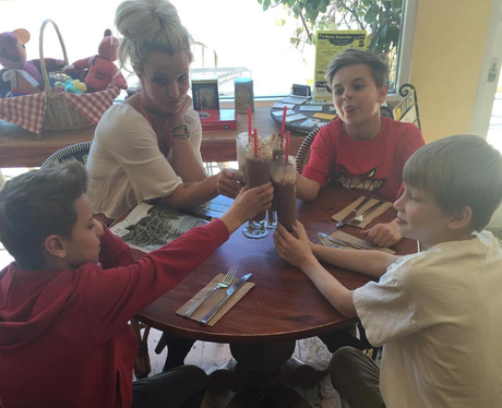 Britney Spears takes her kids out for milkshakes. Because ... Britney Spears Instagram