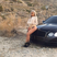 Image 4: Black Chyna in desert on car