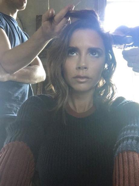Victoria Beckham gets a haircut