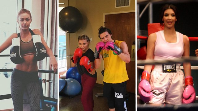 Who were the winners of Sport Relief celebrity boxing bouts?