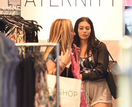 Holly Hagan and Chloe Ferry shop in the maternity