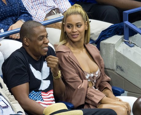 Beyonce and Jay Z at USTA