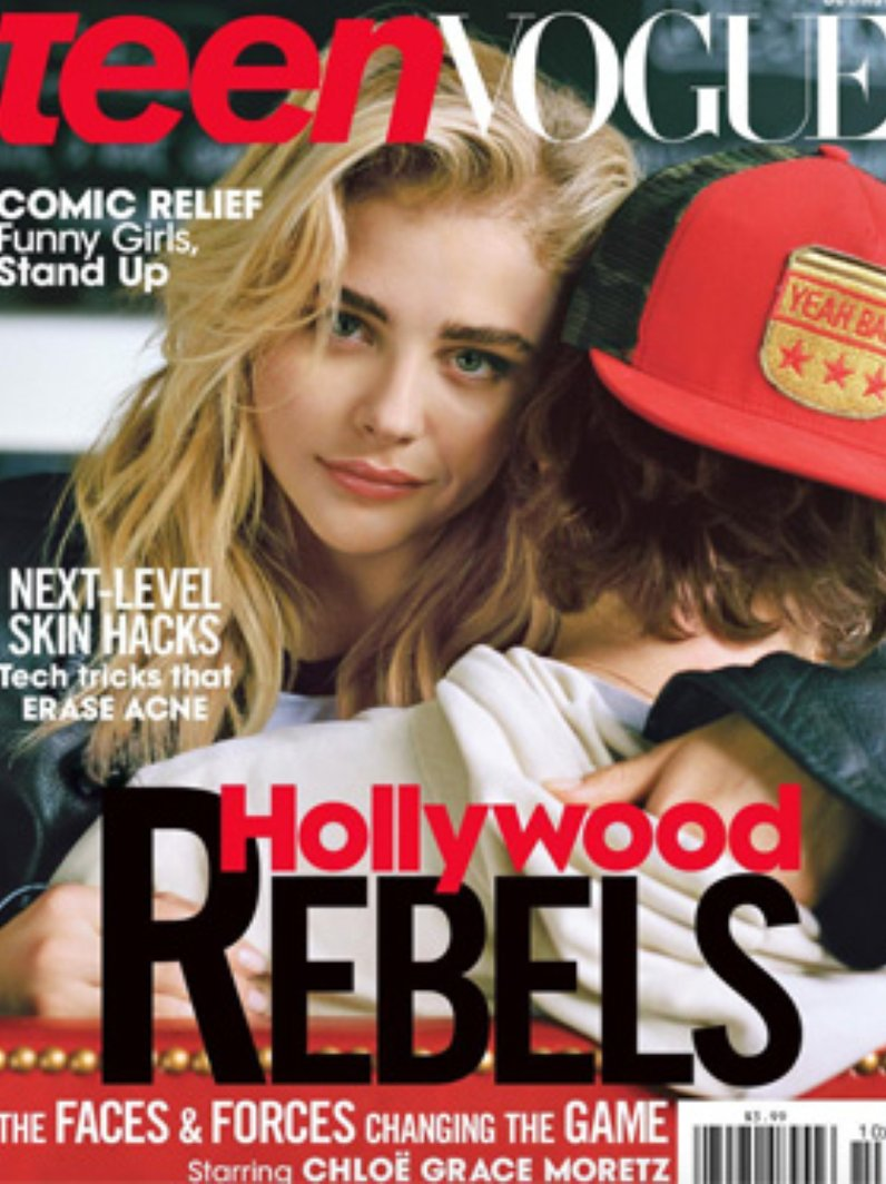 Chloe Grace Moretz on the cover of Teen Vogue with