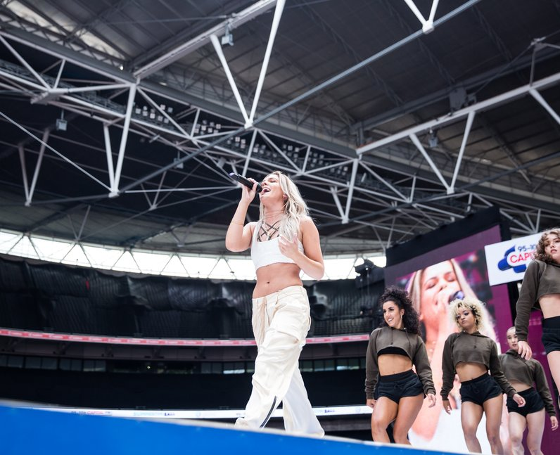 Louisa Johnson a the Summertime Ball 2017